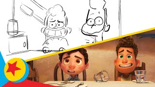 Luca and Alberto Join Guilia and Massimo for Dinner   Pixar Side-By-Side   Pixar