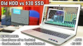Old HDD vs £20/$30 SSD - Crucial BX500 (120GB)