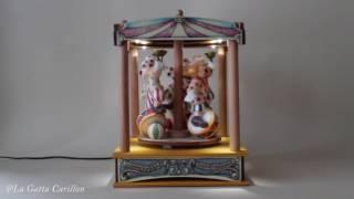 Carillon per bambini e adulti giostra - Tendone giostra Clown Circo (Melodia: Moonlight Serende)