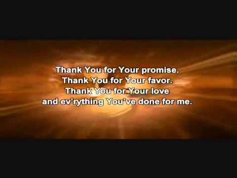 Thank You - Karaoke - Always Glorify God!!!