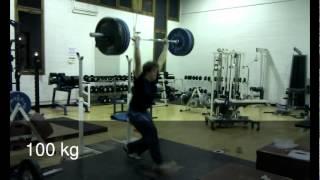 Edinburgh University Weightlifting Club Training 19-2-2012