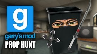 Gmod Prop Hunt - TRASH CAN NINJA!