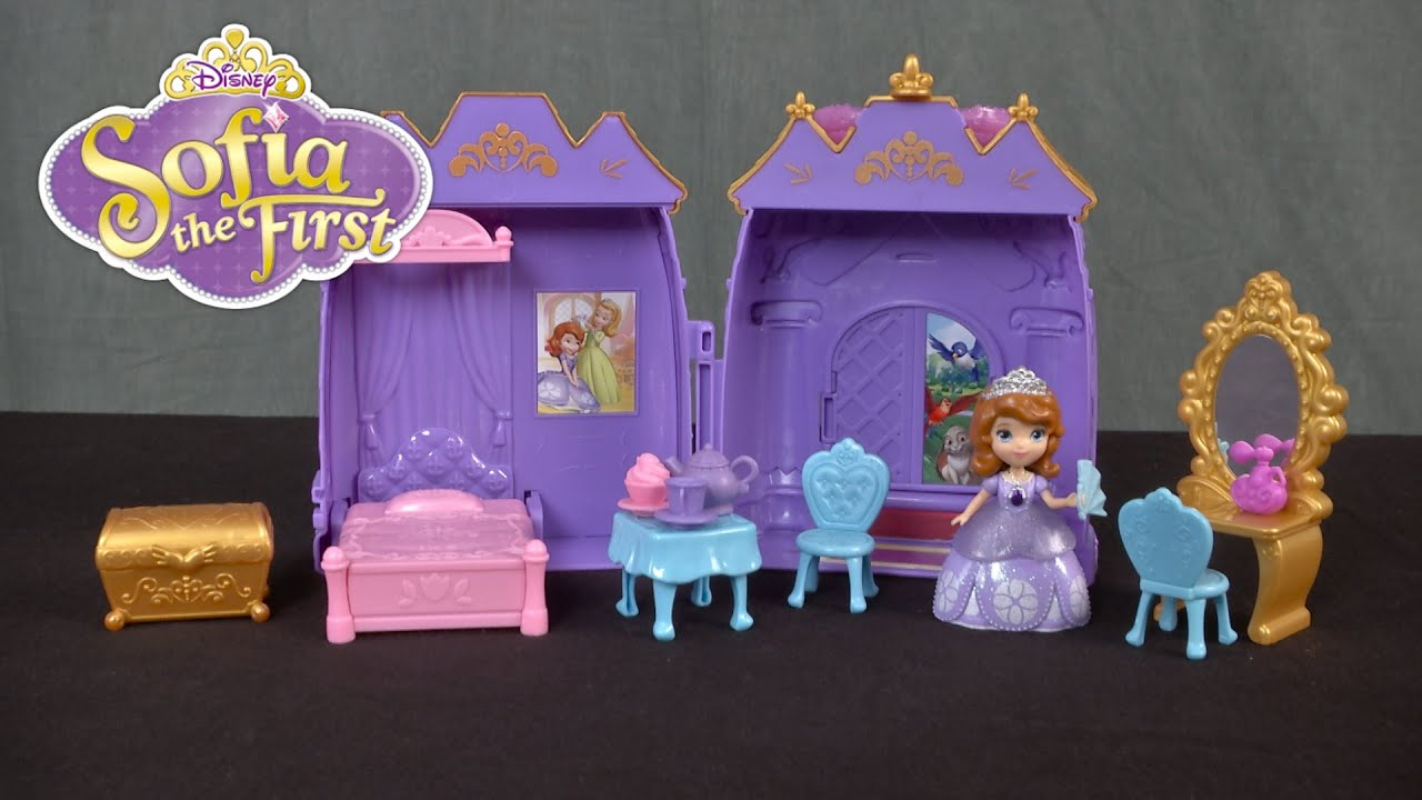 Disney Junior Sofia The First Castle Bedroom Playset From Just Play