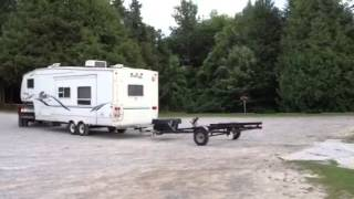Backing up the double trailer  (RV / Camper with Jetski trailer)