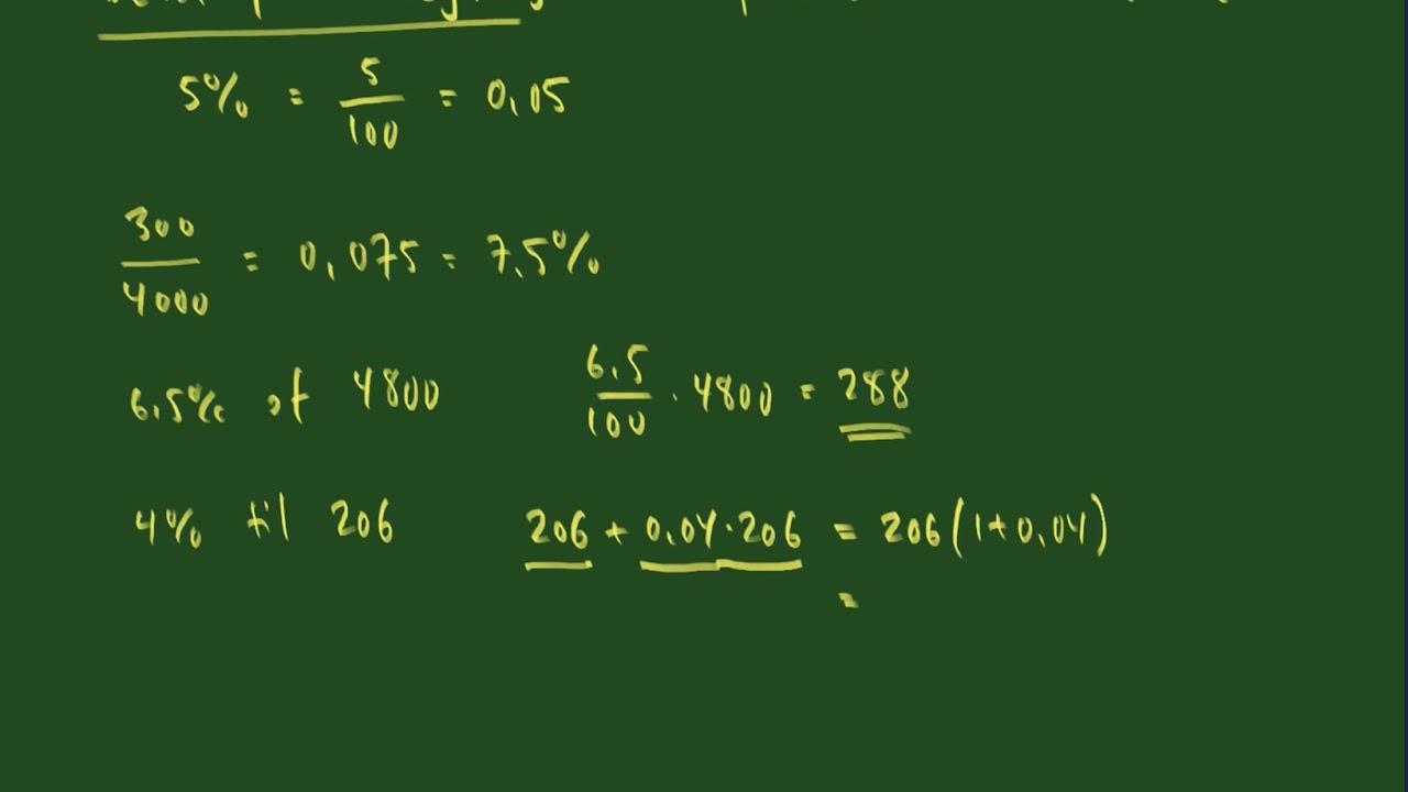 Basal procentregning