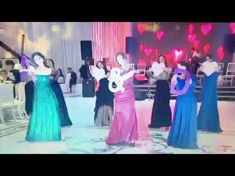 Wedding surprise for bride from best friends, Baku, Azerbaijan. Show-dance at Azeri wedding