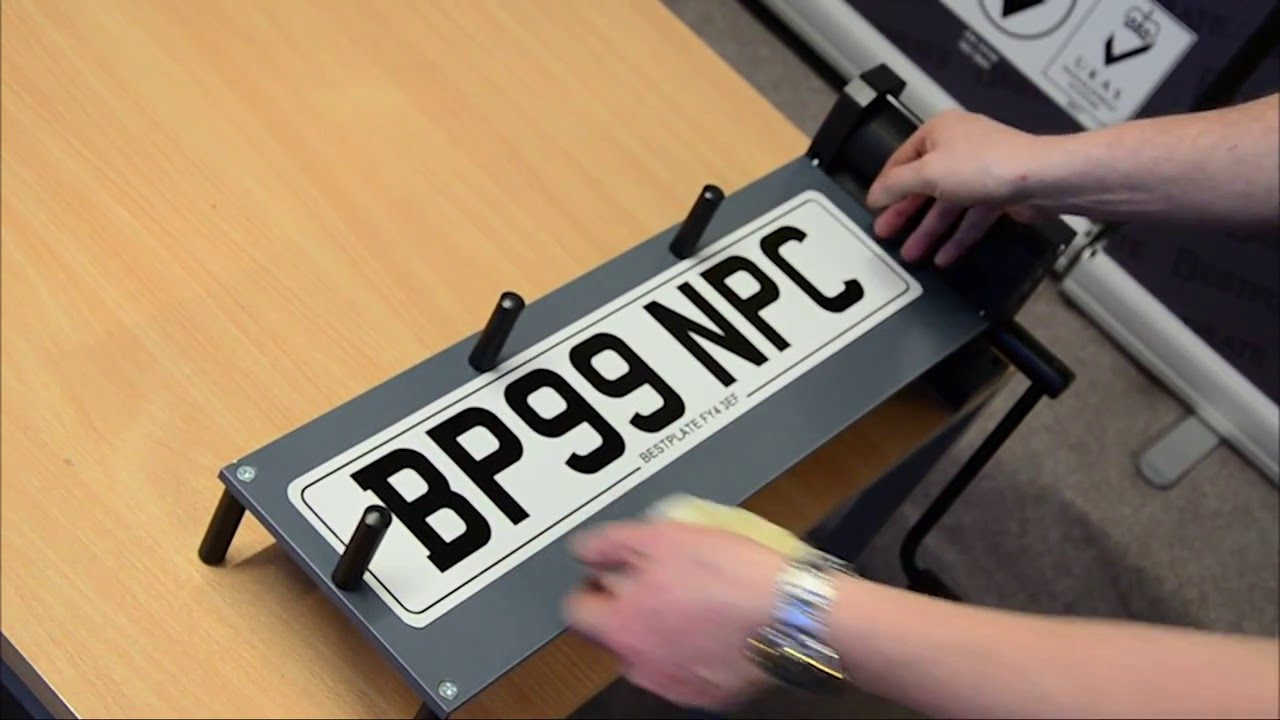 How to Print a Number Plate - YouTube