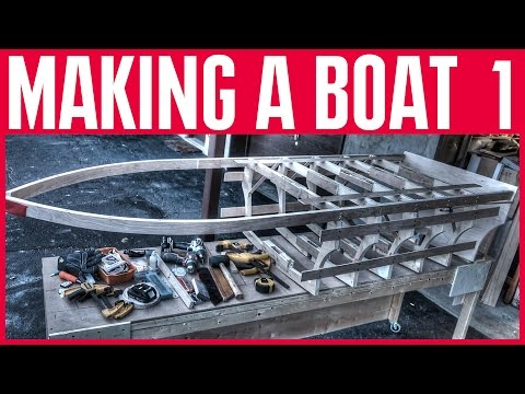 How to Build a Small Wooden Boat #1 Not Using Marine Plywood - Electric Powered - The Keel & Stem