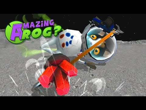 Moon Worm Fishing and Finding Moon Crystals! - Let's Play The Amazing Frog Gameplay