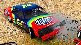 NASCAR LEGENDS CRAZY DEMOLITION DERBY! - Next Car Game Wreckfest