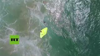 Primer rescate hecho por un dron salvavidas