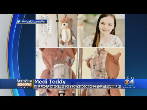 Meredith And AJ In The Morning - #GoodNews:  Girl Creates Teddy Bear for IV Bags