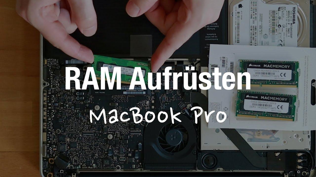 Apple Macbook Pro 2011 Ram Aufrüsten Nachrüsten Tauschen 16gb Youtube