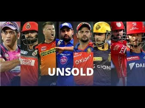 List of players unsold at IPL auction 2017