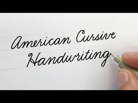 American Cursive Handwriting (Looped Cursive)