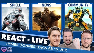 Crysis Remaster, Raytracing-Boom, Resi 4, Fallout 76 - Die wichtigsten Spiele-Theme im REACT Live