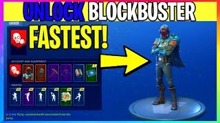 SECRET To UNLOCK BLOCKBUSTER Skin *FASTEST* With SHOWCASE (Fortnite Battle Royale)