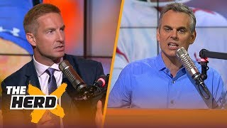 Joel Klatt & Colin Cowherd react to the College Football Playoff rankings after Week 13 | THE HERD