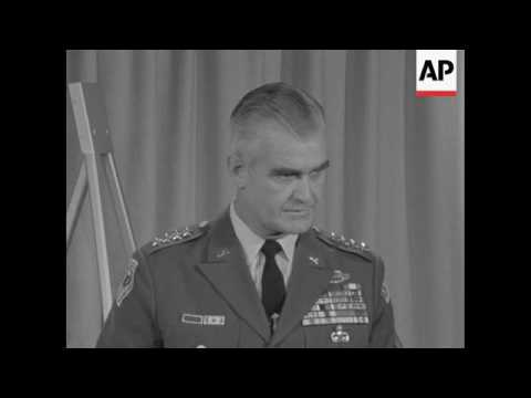 Gen William Westmoreland says North Vietnam has not won a single victory during the last year and a