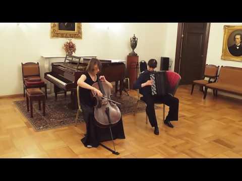 Astor Piazzolla Le grand tango Alevtina Nikitina (bayan) &  Natalia Nazarova (cello)