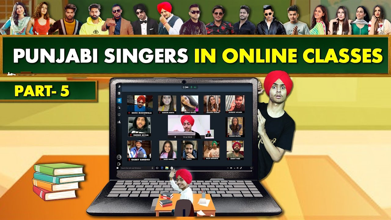 PUNJABI SINGERS in ONLINE CLASSES  | Part 5 | Funny Conversation | HARSHDEEP SINGH