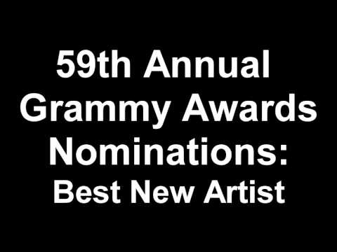59th Annual Grammy Awards Best New Artist...