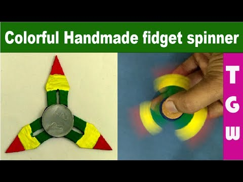 diy colorful handmade  ninja star  fidget spinner using cardboard