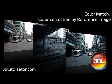 Color Match with the Reference image in 3D LUT Creator