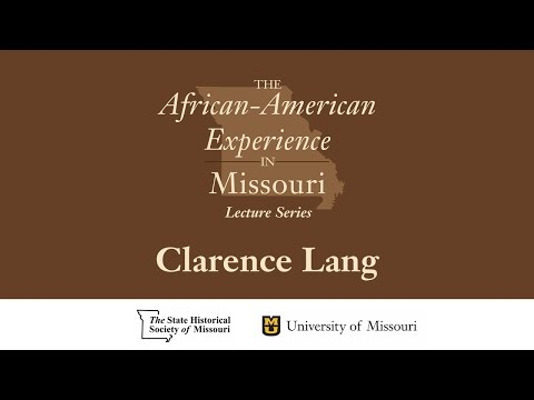 African American Experience Lecture Series - Clarence Lang