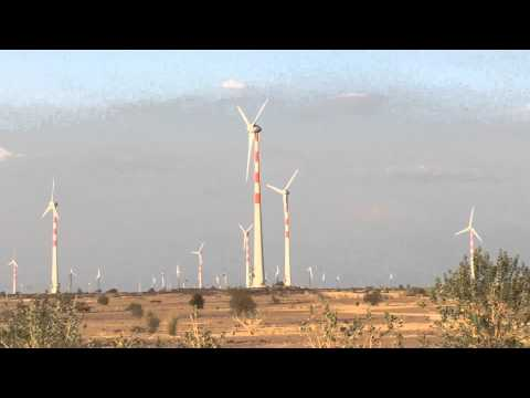 Huge Wind Power Generation in Rajasthan India