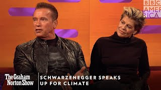 Schwarzenegger Speaks Up For Climate | The Graham Norton Show | Friday at 11pm | BBC America