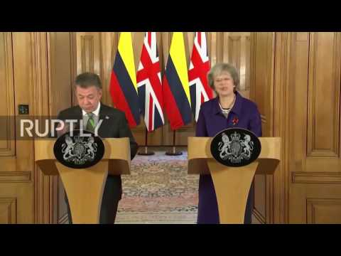 UK: May and Santos herald stronger Colombia-UK business ties