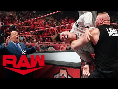 Brock Lesnar Brutally Attacks Rey Mysterio And His Son: Raw, Sept. 30, 2019