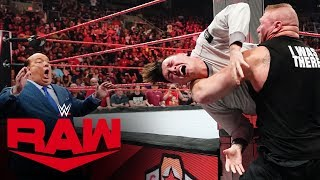 Brock Lesnar brutally attacks Rey Mysterio and his son Raw, Sept. 30, 2019