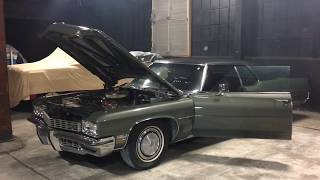 1972 Buick Electra Limited, idling, underhood, exhaust and interior