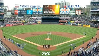 KC@NYY: Yankees honor victims of Manchester tragedy