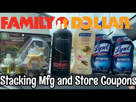 Family Dollar Deals   Stacking Mfg And Store Coupons
