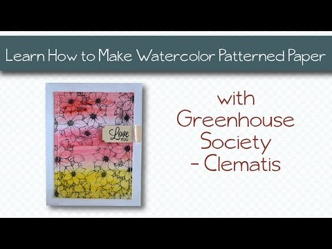 Learn How to Make Watercolor Patterned Paper - Technique Tuesday