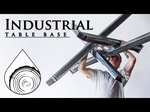 Making An Industrial Table Base   Steel Table Legs