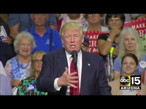 PART ONE: Donald Trump in Akron, OH - Teleprompter skills improving
