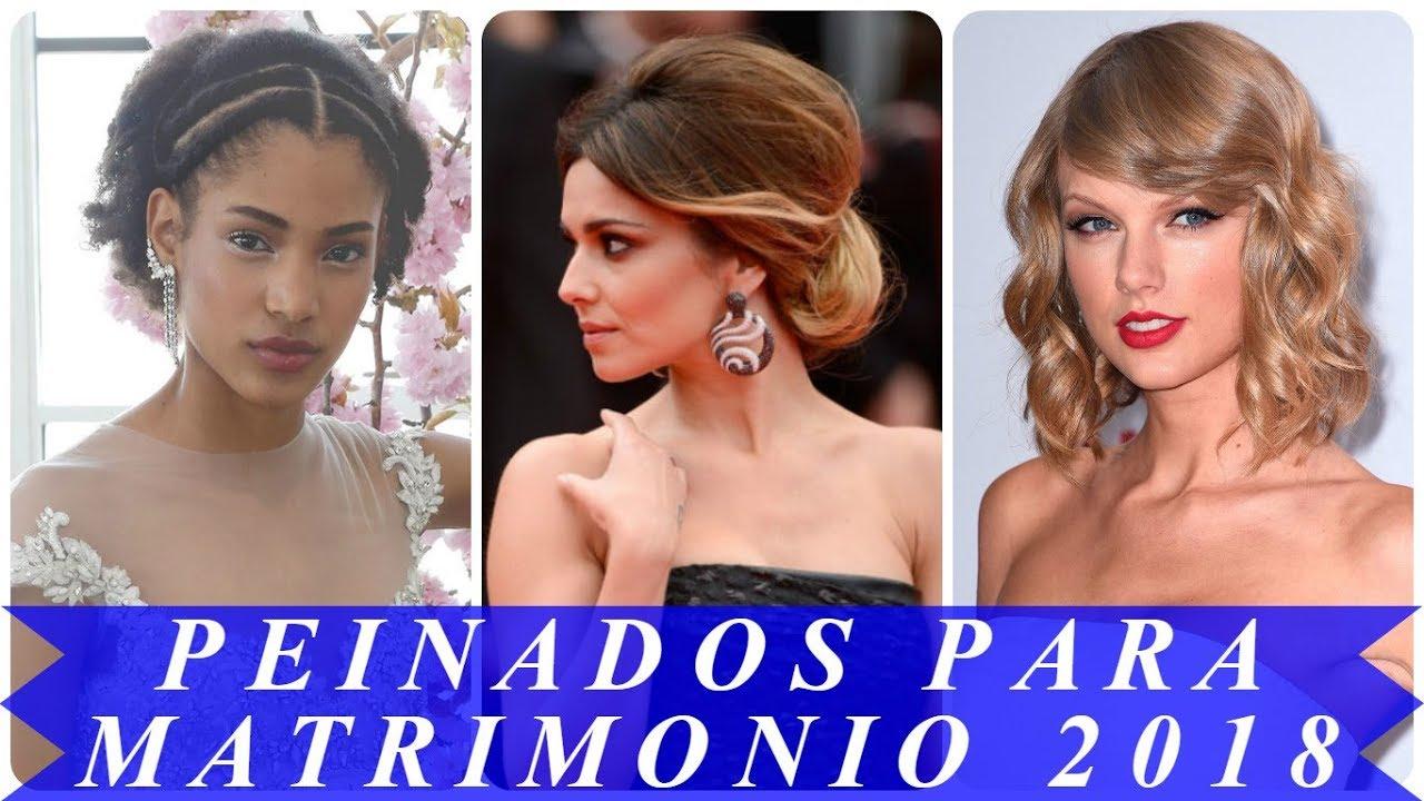 Peinados Para Boda De Dia Cabello Mediano 2018 Youtube