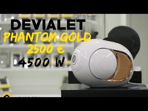 Devialet phantom gold -  4500W - 2590€ - La meilleure enceinte sans fil au monde !