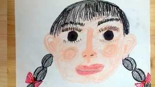顔を描く順番に悩むお子様のための描き方サンプルです。 自分の描き方が...