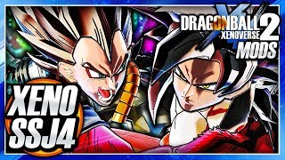Dragon Ball Xenoverse 2 PC: SSJ4 Xeno Goku Vs SSJ4 Xeno Vegeta DLC Mod Gameplay (Super DB Heroes)