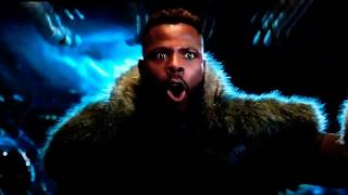 Black Panther M'Baku barking scene