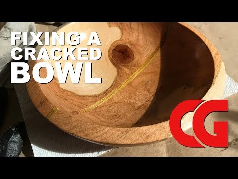 Fixing a Cracked Wood Bowl