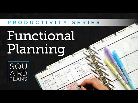 7+ Functional Planning Styles To Help You Get Things Done:: Productivity Series:: Squaird Plans