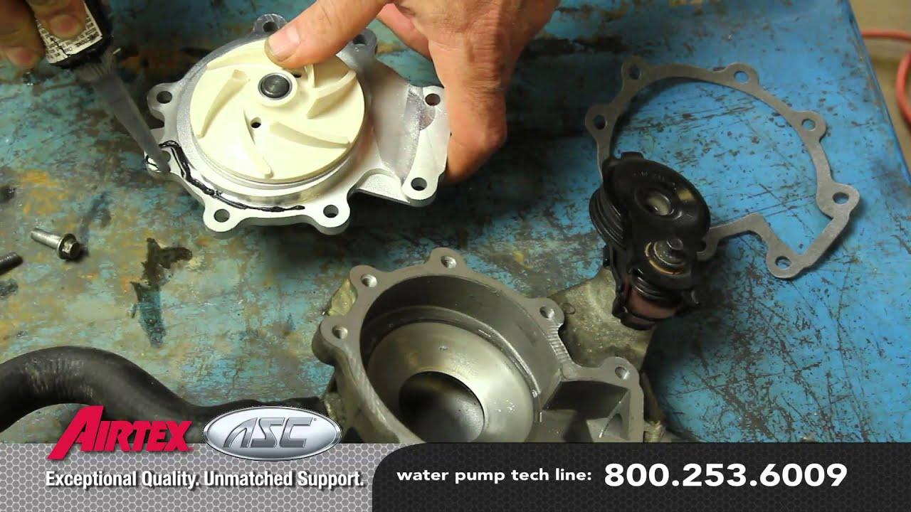 how to install a water pump mazda 3 0l wp 9035 aw4091 [ 1280 x 720 Pixel ]