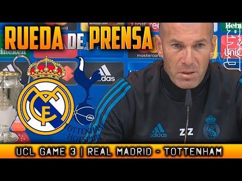 Real Madrid - Tottenham Rueda de prensa de ZIDANE Champions League (16/10/2017)