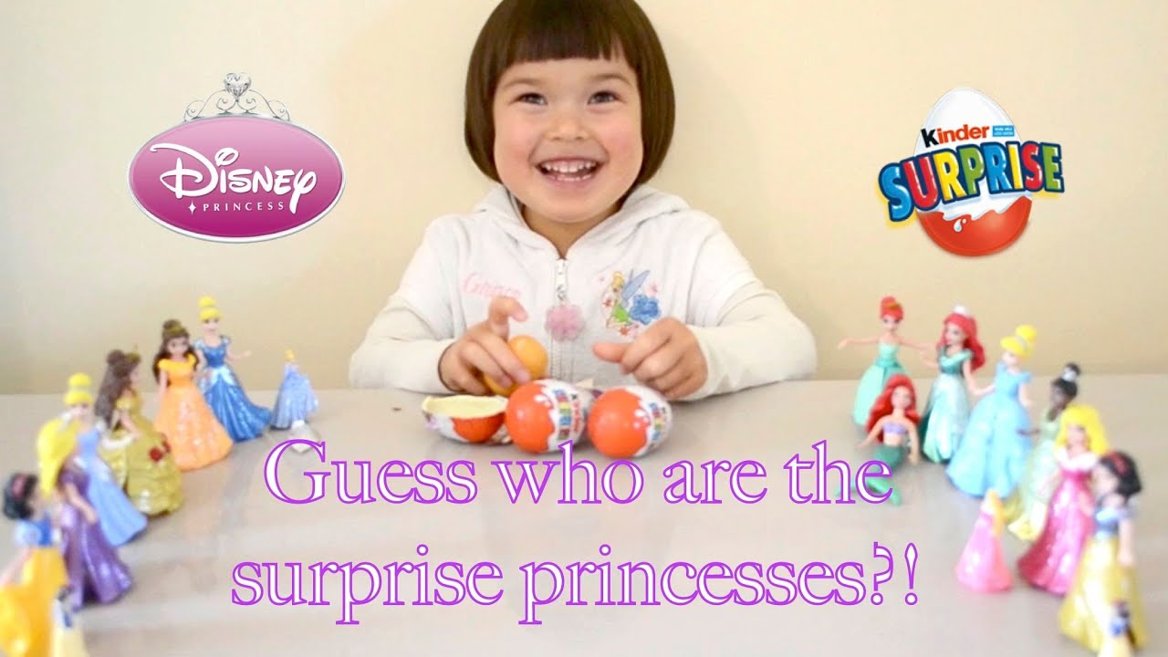 Disney Princess Kinder Surprise Egg unboxing with Disney Princess